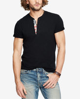 Denim & Supply Ralph Lauren Men's Cotton American Flag Patch Henley