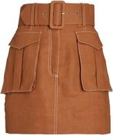 Shona Joy Eames Linen Utility Mini Skirt