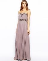 Forever Unique Arabel Bandeau Maxi Dress - Taupe