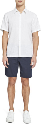 Theory Irving Linen Short Sleeve Shirt