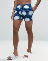 Oiler & Boiler Tuckernuck Mid-length Swim Shorts In Sea Shell Navy