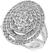 Effy Classique by Diamond Oval Bouquet Ring (1-3/4 ct. t.w.) in 14k White Gold