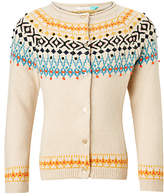 John Lewis Girls' Fair Isle Cardigan, Cream