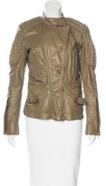 Roberto Cavalli Quilted Leather Jacket