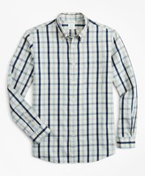 Brooks Brothers Milano Slim-Fit Sport Shirt, Indigo Multi-Gingham