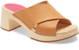 Swedish Hasbeens Anette Platform Slide Sandal