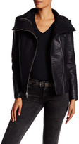 French Connection Textured Faux Leather Moto Jacket