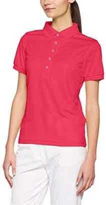 James & Nicholson Women's Ladies ́Active Polo Shirt, Pink, (Size: XX-Large)