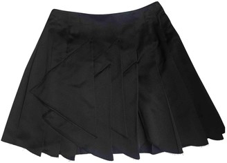 Miu Miu Navy Silk Skirt for Women