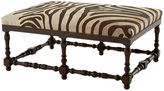 Massoud Furniture Eva Cocktail Ottoman, Zebra Hide
