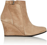 Lanvin WOMEN'S SUEDE WEDGE ANKLE BOOTS
