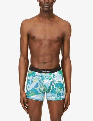 Tom Ford Floral-print slim-fit stretch-cotton boxer briefs