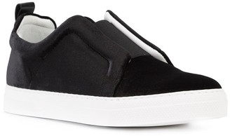 Elastic Band Slip-on Sneakers Black