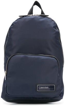 Calvin Klein Logo Plaque Backpack