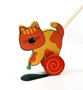 BabyCentre Hess Wooden Baby Riding Cat Toy