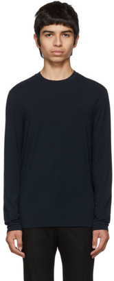 Giorgio Armani Navy Viscose Sweater