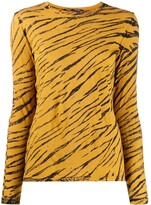 Proenza Schouler tie-dye tiger-stripe T-shirt