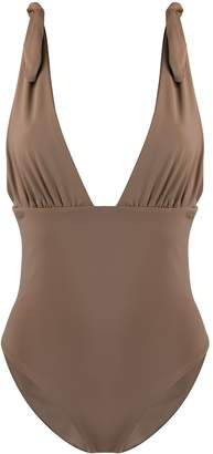Mara Hoffman deep V-neck swimsuit