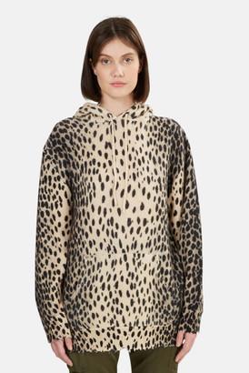 R 13 Cheetah Cashmere Hoodie