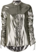 Versace ruched detail blouse