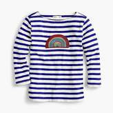 J.Crew Girls' striped T-shirt with rainbow