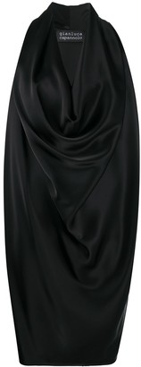 Gianluca Capannolo Draped Cowl Neck Dress