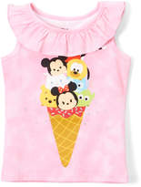 Freeze Pink Tsum Tsum Ice-Cream Cone Ruffle Tank - Toddler
