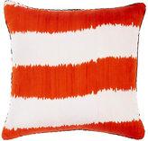 Madeline Weinrib Striped Ikat Pillow-ORANGE