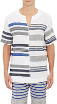 Lemlem MEN'S VOILE SHORT-SLEEVE TUNIC-WHITE SIZE S