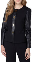 Tahari Arthur S. Levine Faux Leather Frame Jacket
