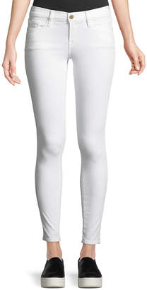 Frame Le Color Skinny Denim Jeans, Blanc De Blancs