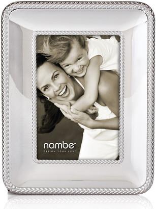 "Nambe Braid 4"" x 6"" Picture Frame"