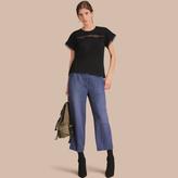 Burberry Lace Detail Cotton T-shirt