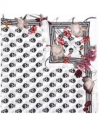 Alexander McQueen Skull floral print scarf