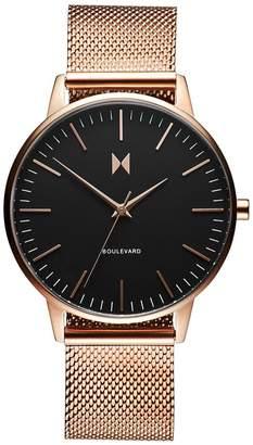 MVMT Boulevard Magnolia Stainless Steel Mesh Bracelet Watch