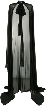 Blumarine Chiffon Floor-Length Cape