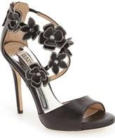 Badgley Mischka 'Langley' Floral Appliqué Sandal (Women)