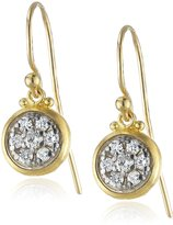 "Gurhan Moonstruck"" White Diamond Two-Tone Dangling Drop Earrings"
