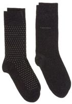 Calvin Klein New Mens Grey Felix 2 Pack Cotton/Polyamide Socks Casual