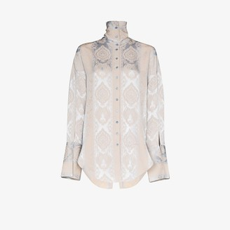 Acne Studios High neck patterned shirt