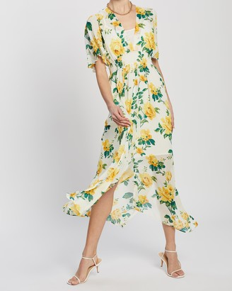 Dorothy Perkins Floral Shirred Waist Midi Dress