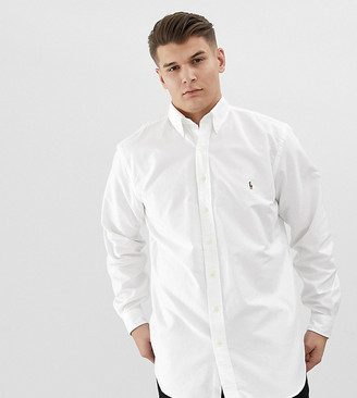 Polo Ralph Lauren Big & Tall Oxford Shirt Player Logo Button Down in White