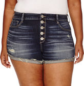 Arizona Denim Shorts Juniors Plus