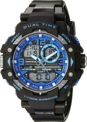 Armitron Sport Men's 20/5062BLK Analog-Digital Chronograph Black Resin Strap Watch