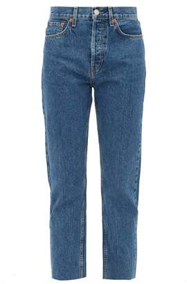 RE/DONE Stovepipe High-rise Straight-leg Jeans - Womens - Dark Denim