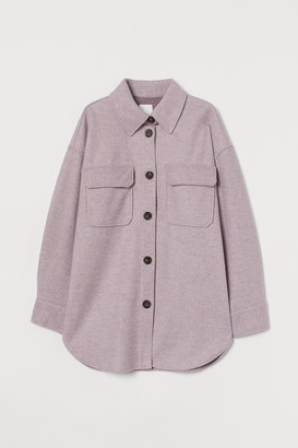 H&M Jersey shirt jacket