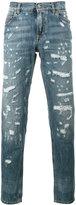 Dolce & Gabbana distressed denim straight-leg jeans
