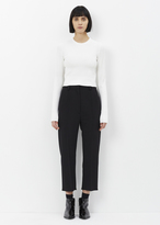 Proenza Schouler white long sleeve cropped knit crewneck