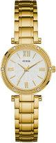 GUESS Women's Gold-Tone Stainless Steel Bracelet Watch 40mm U0767L2