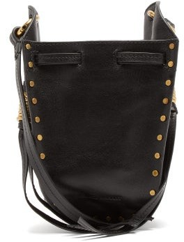 Isabel Marant Radji Mini Studded Leather Bucket Bag - Womens - Black
